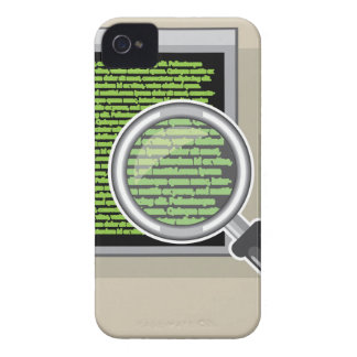 See code through magnifying glass iPhone 4 case