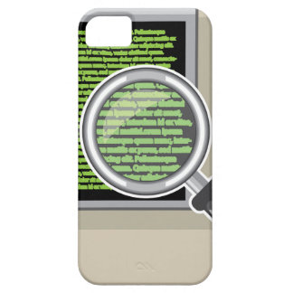See code through magnifying glass iPhone SE/5/5s case