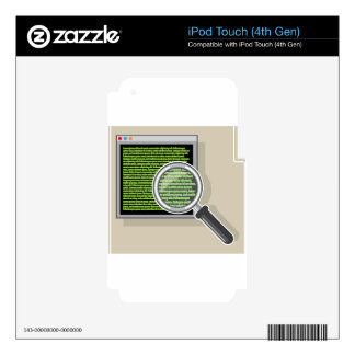 See code through magnifying glass iPod touch 4G decal