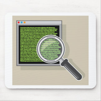 See code through magnifying glass mouse pad