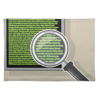 See code through magnifying glass placemat
