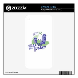 See! Easter Island iPhone 4 Skins