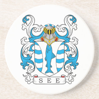 See Family Crest Coasters