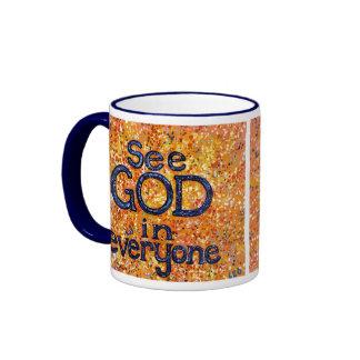 See God in Everyone Ringer Mug