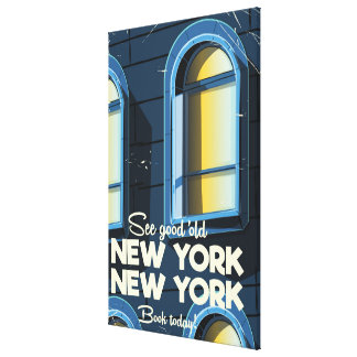 See Good Old New york travel poster Canvas Print