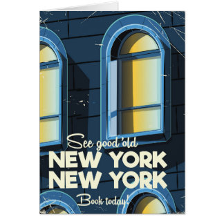 See Good Old New york travel poster Card