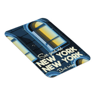 See Good Old New york travel poster Magnet