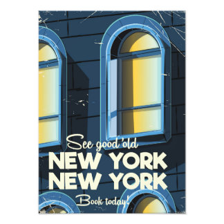 See Good Old New york travel poster Photo Print