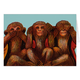 See Hear and Speak No evil Card