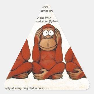 See, Hear, Speak no Evil Adesivo Triângulo