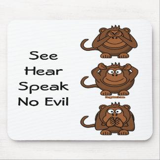See Hear Speak No Evil Monkeys, SeeHearSpeakNo ... Mousepad