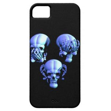 See, Hear, Speak No Evil Skulls iPhone 5G Case