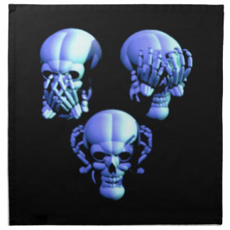 See Hear Speak No Evil Skulls Napkins