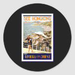 See Hong Kong The Riviera of the Orient Stickers