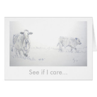 See if I care Greeting Card