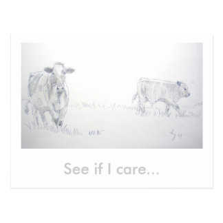 See if I care Postcard