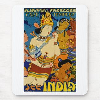 See India ~ Ajanta Frescoes Mouse Pad