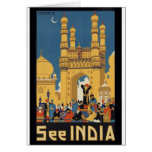 See India Poster Greeting Card