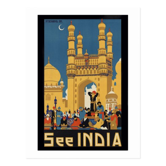 See India Poster Postcard
