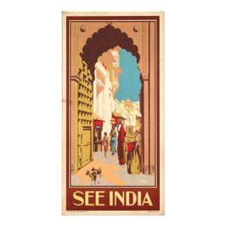 See India - Vintage Travel Photo Card