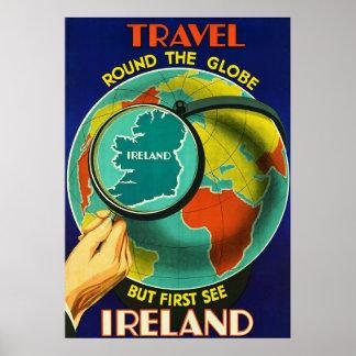 See Ireland ~Vintage Irish Travel Poster.