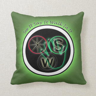 See it Say it Walk in it Throw Pillow
