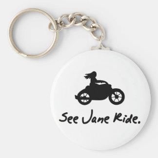 See Jane Ride Keychain