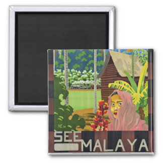See Malaya 2 Inch Square Magnet