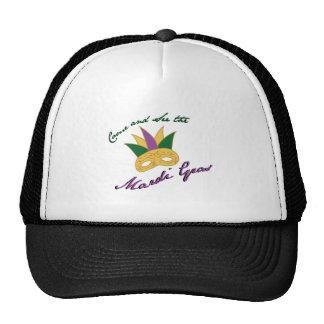 See Mardi Gras Trucker Hat