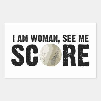 See Me Score - Softball Sticker