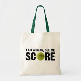 See Me Score - Tennis Budget Tote Bag