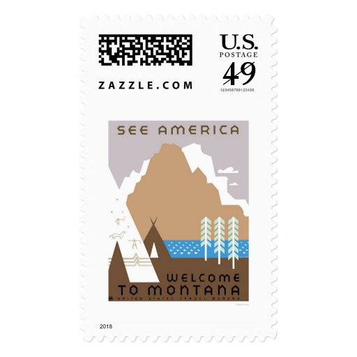 See Montana & America 1938 WPA Postage Stamp