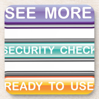 See more Security check Ready to use Buttons Gloss Coaster