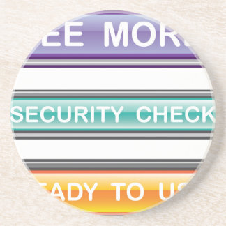 See more Security check Ready to use Buttons Gloss Drink Coaster