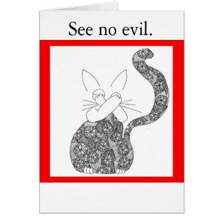 See no evil card