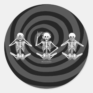 See No Evil... Classic Round Sticker