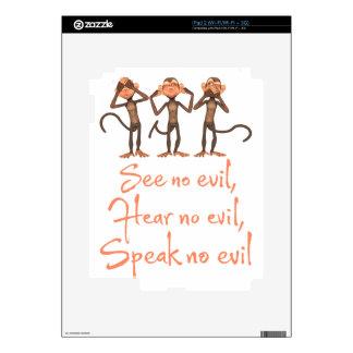 See no evil - hear no evil - speak no evil - iPad 2 decal