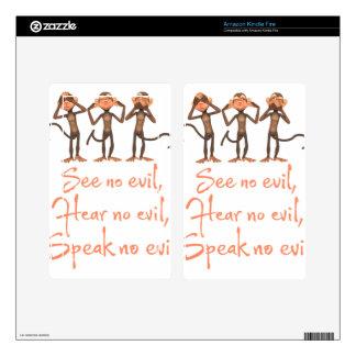 See no evil - hear no evil - speak no evil - kindle fire decals