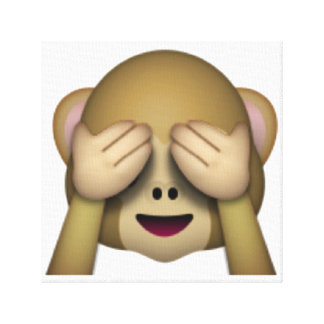 See No Evil Monkey - Emoji Canvas Print