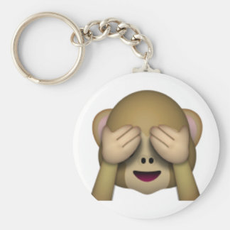 See No Evil Monkey - Emoji Keychain