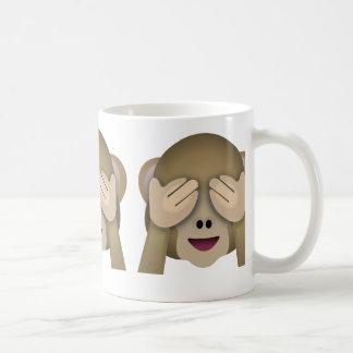 See No Evil Monkey Emoji Classic White Coffee Mug