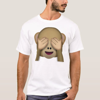 See-No-Evil monkey emoji T-Shirt