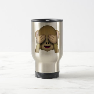 See No Evil Monkey - Emoji Travel Mug