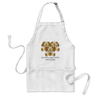 See No Evil Puppies Adult Apron