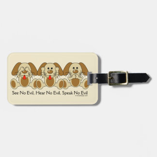 See No Evil Puppies Bag Tag