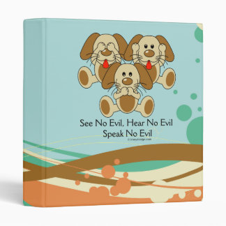 See No Evil Puppies Binders