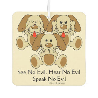 See No Evil Puppies Car Air Freshener