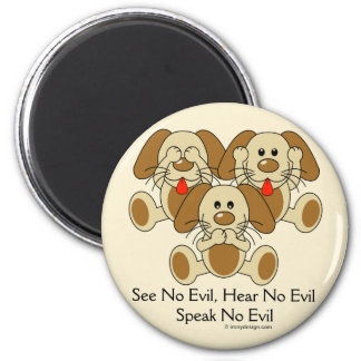 See No Evil Puppies Magnet
