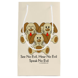 See No Evil Puppies Small Gift Bag