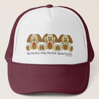 See No Evil Puppies Trucker Hat